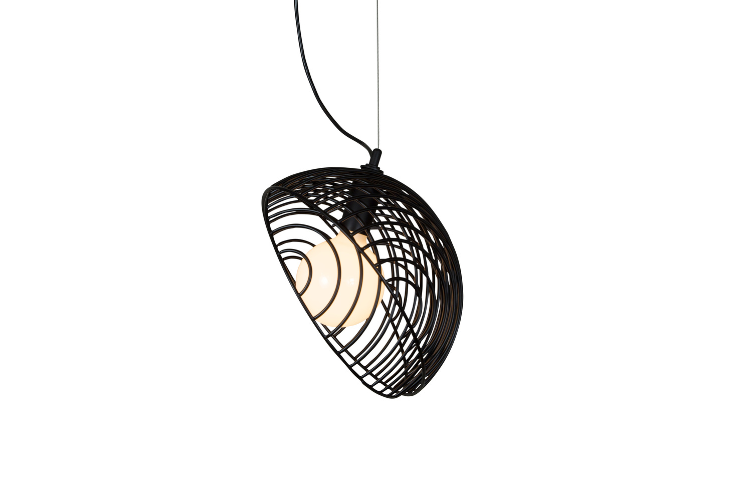 5 dana 1 black pendant contemporary cage light