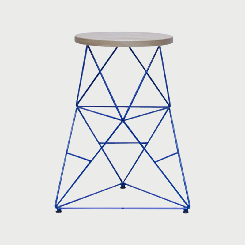 Octahedron stool   24   blue