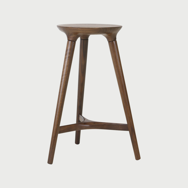 Kingstown counter stool walnut studio dunn