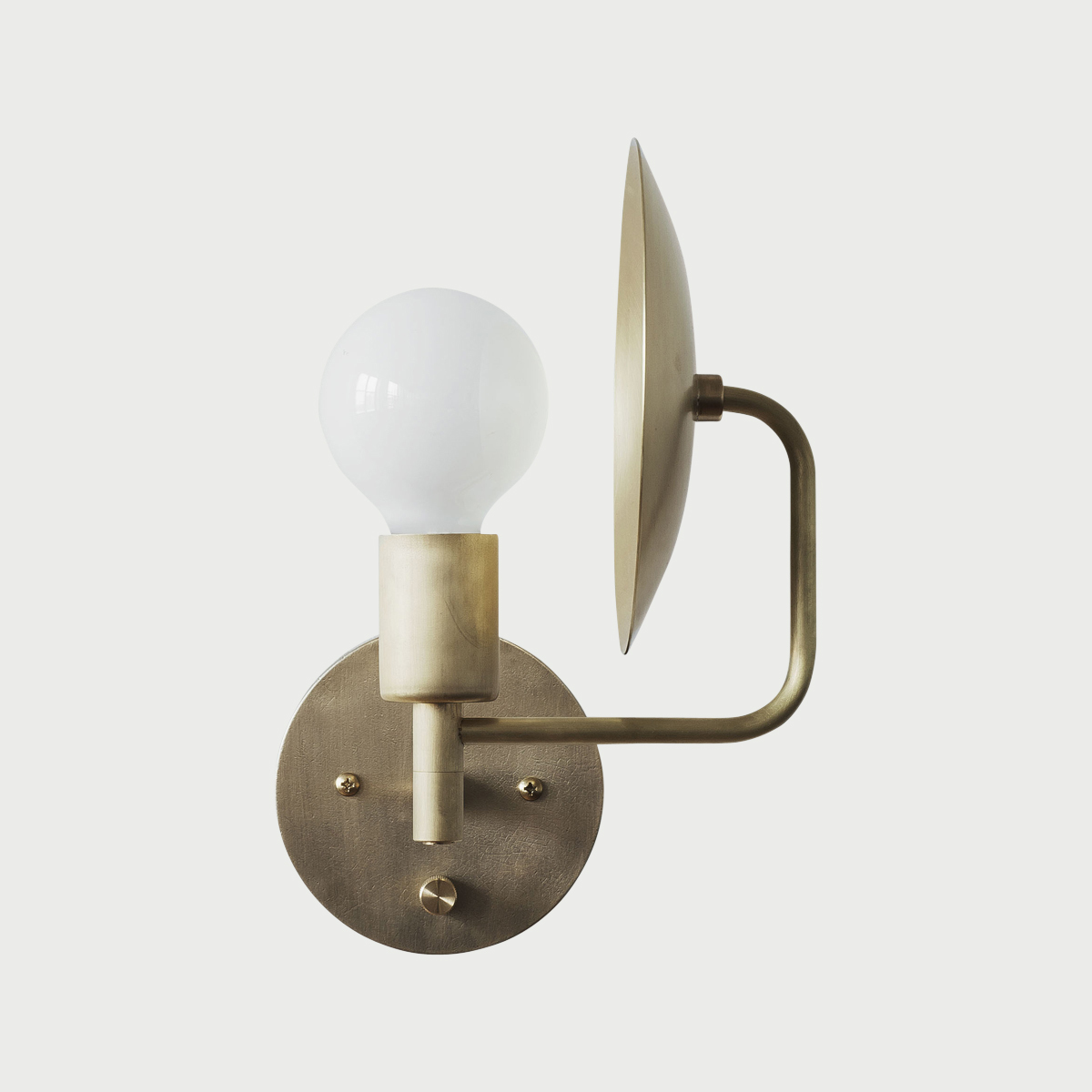 Sconce hardwired side