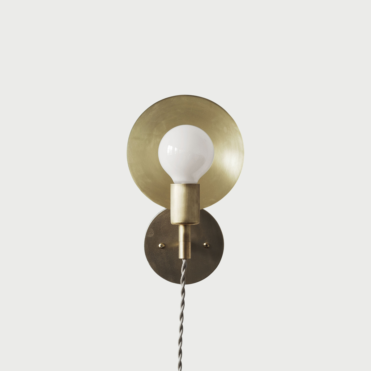 Sconce plug in front