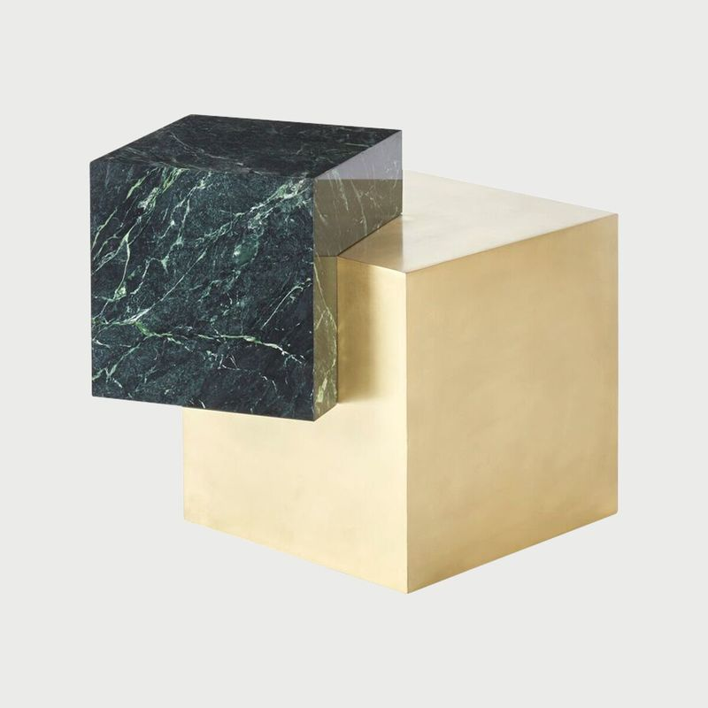 Slash objects   side table coexist 2017   marble and brass   photo by israel veintidos preview preview