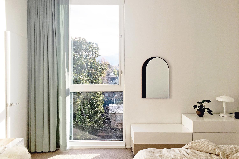 Arch mirror   in bedroom   1