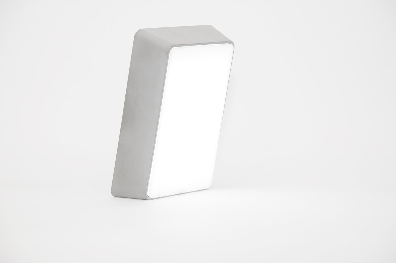 Brick lamp concrete light gray 02