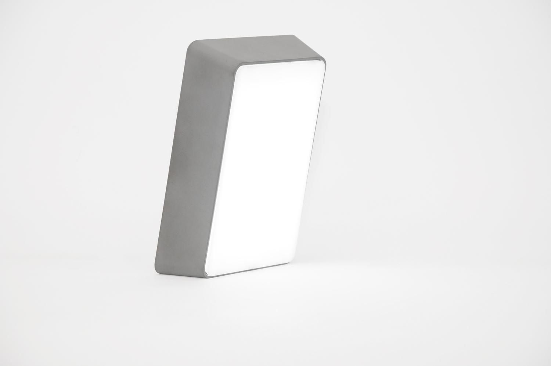 Brick lamp concrete dark gray 02