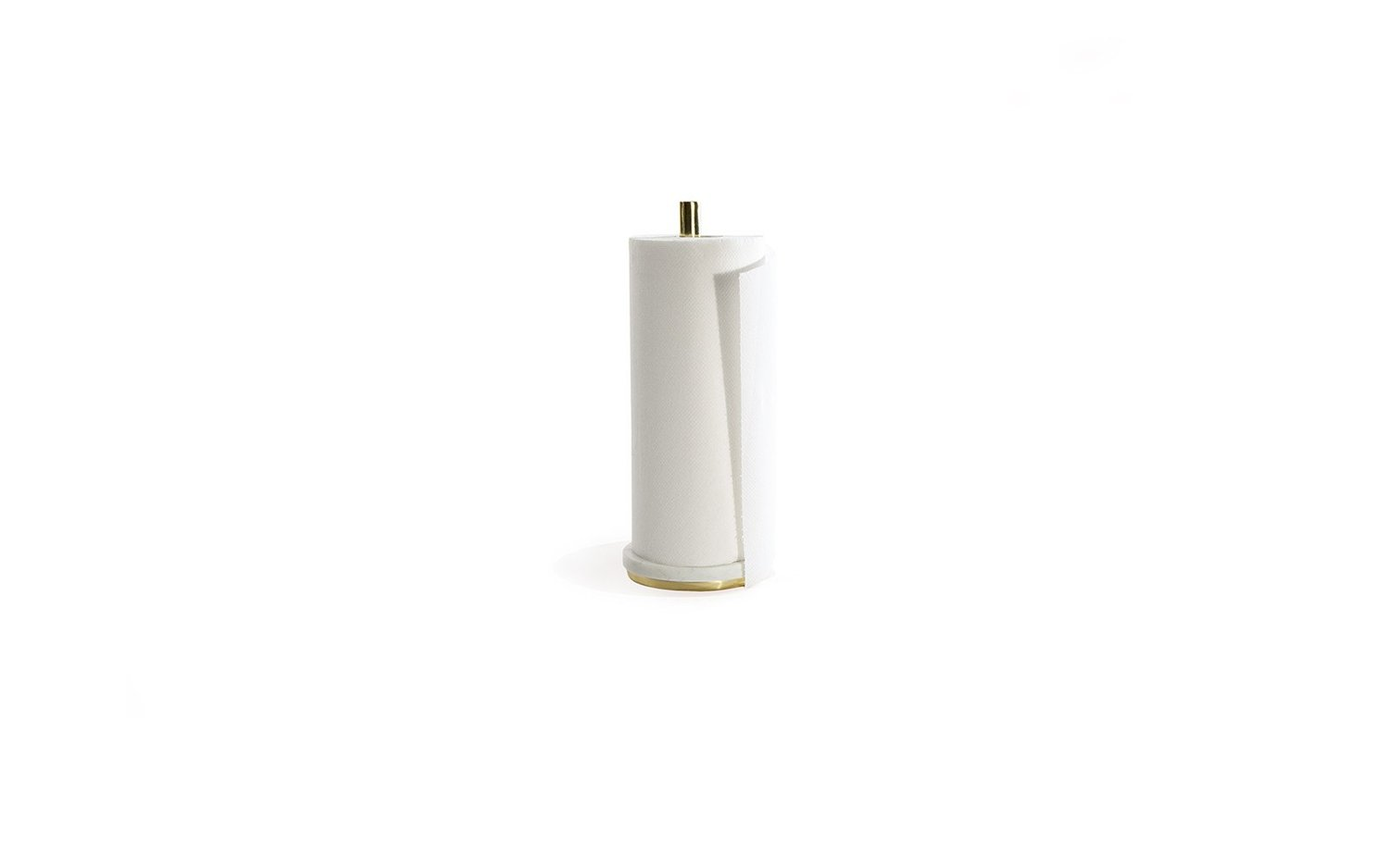 Mara brass paper towel holder with