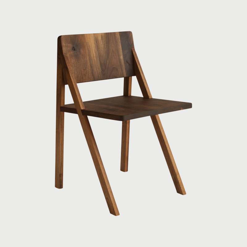 Walnut samos dining chair view 1