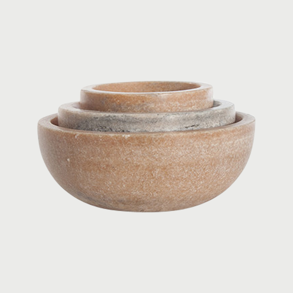 Mara marble bowl family nested pink