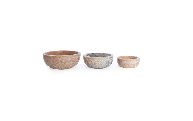 Mara marble bowl family lineup pink