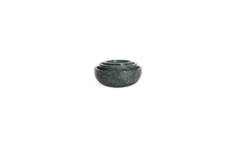 Mara marble bowl family nested green