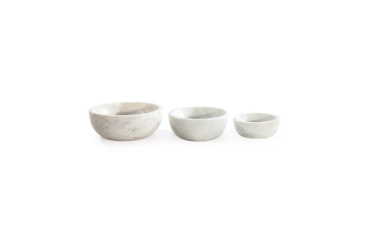 Mara marble bowl family lineup white