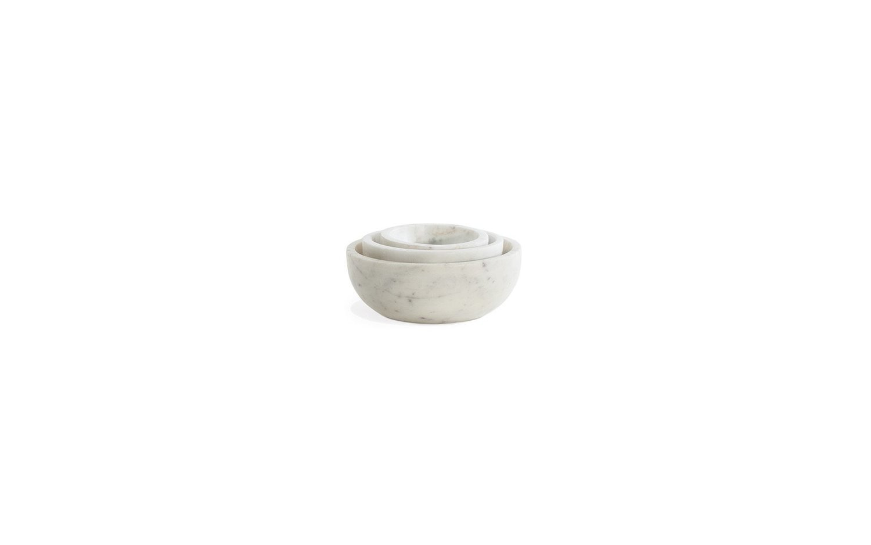 Mara marble bowl family nested white