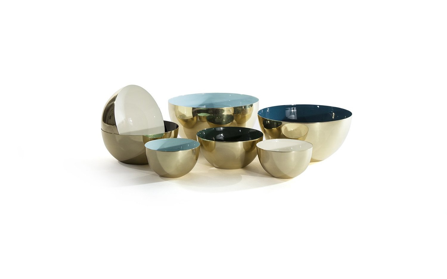 Louise brass bowl family assorted