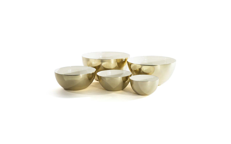 Louise brass bowl family white