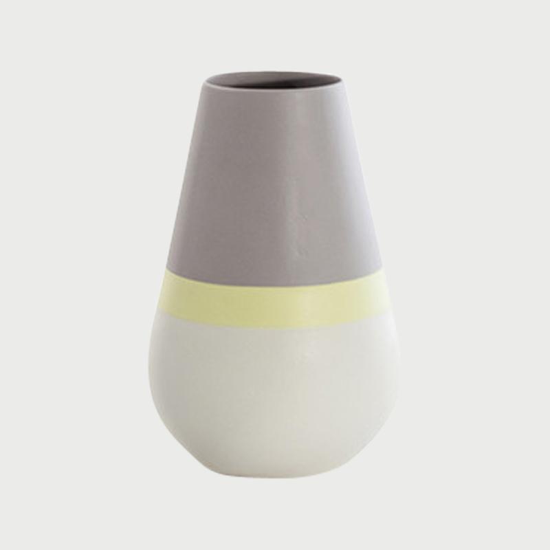 Versa vase drop citron