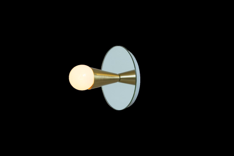 1 echo 1 brass modern mirrored sconce surface flush mount
