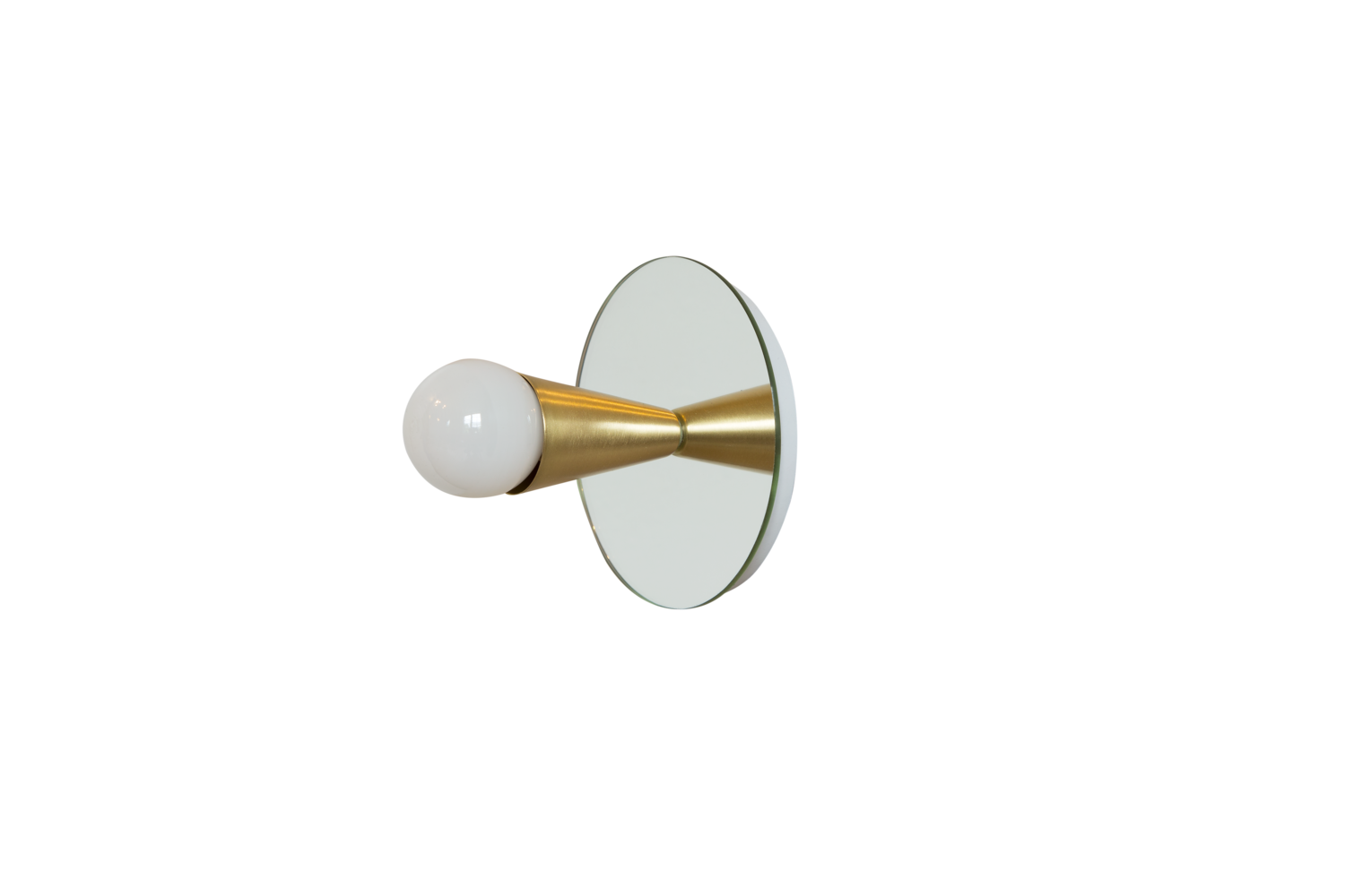 2 echo 1 brass contemporary mirrored sconce surface flush mount