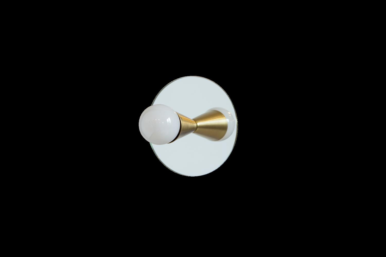3 echo 1 brass modern mirror sconce flush mount