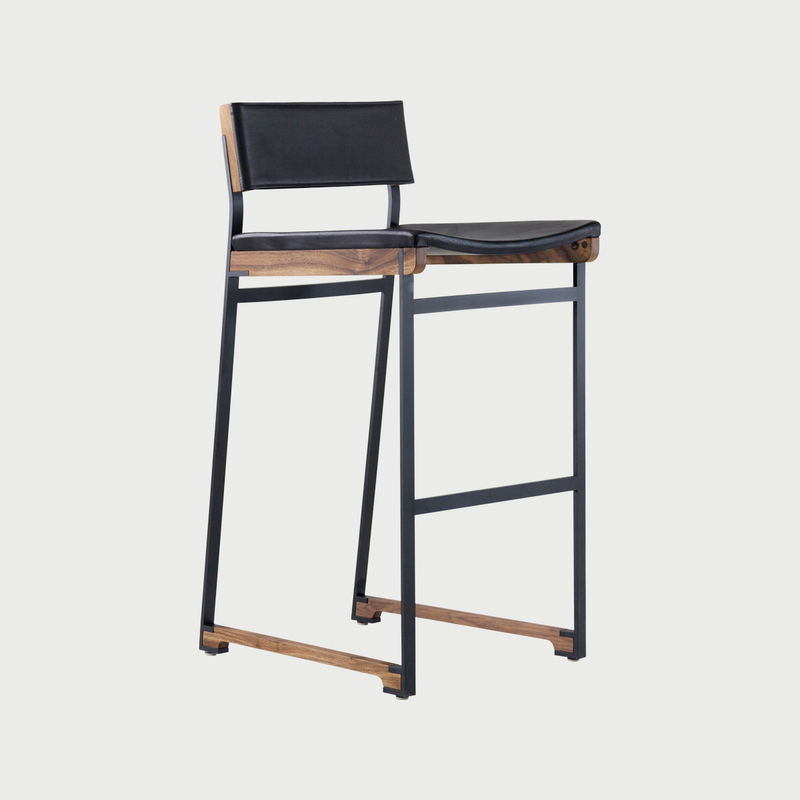 Catenary bar stool  solid seat 4