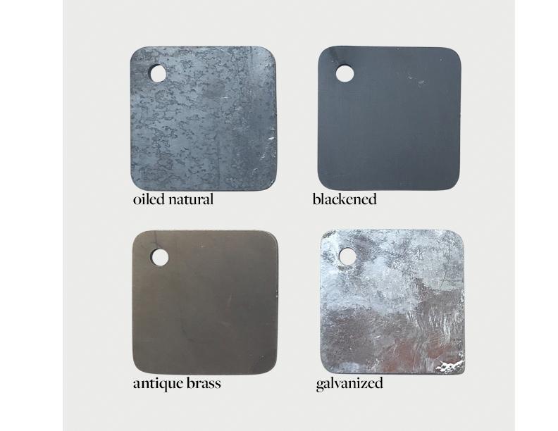 Klein steel finish swatches