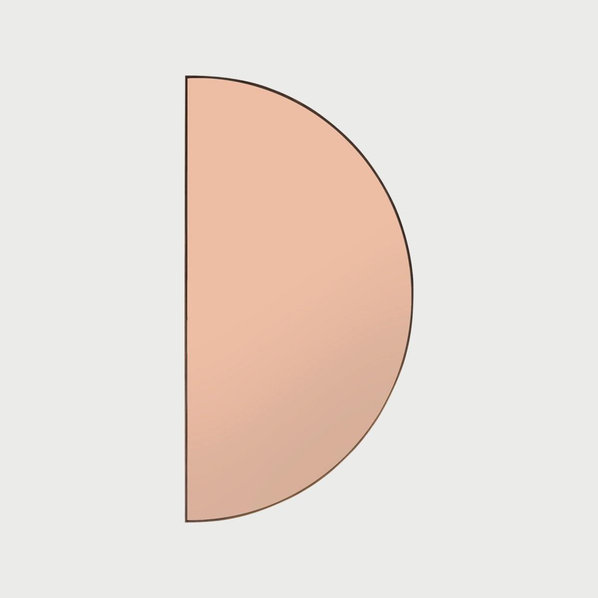 Half circle mirror peach