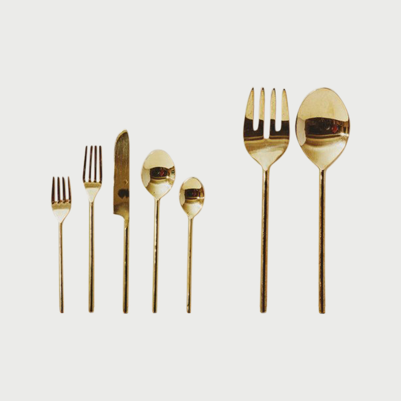 Simple flatware serving set