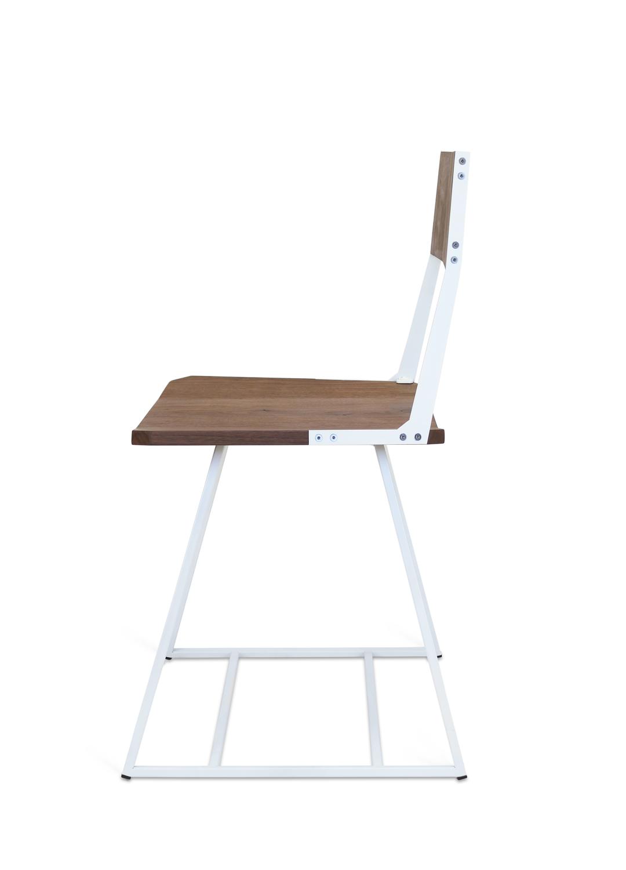 Chair walnut white