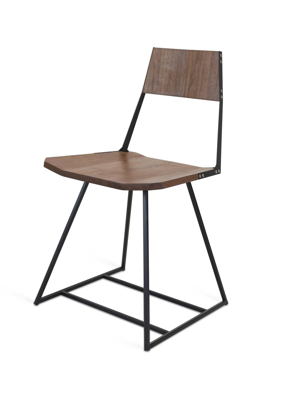 Chair walnut black