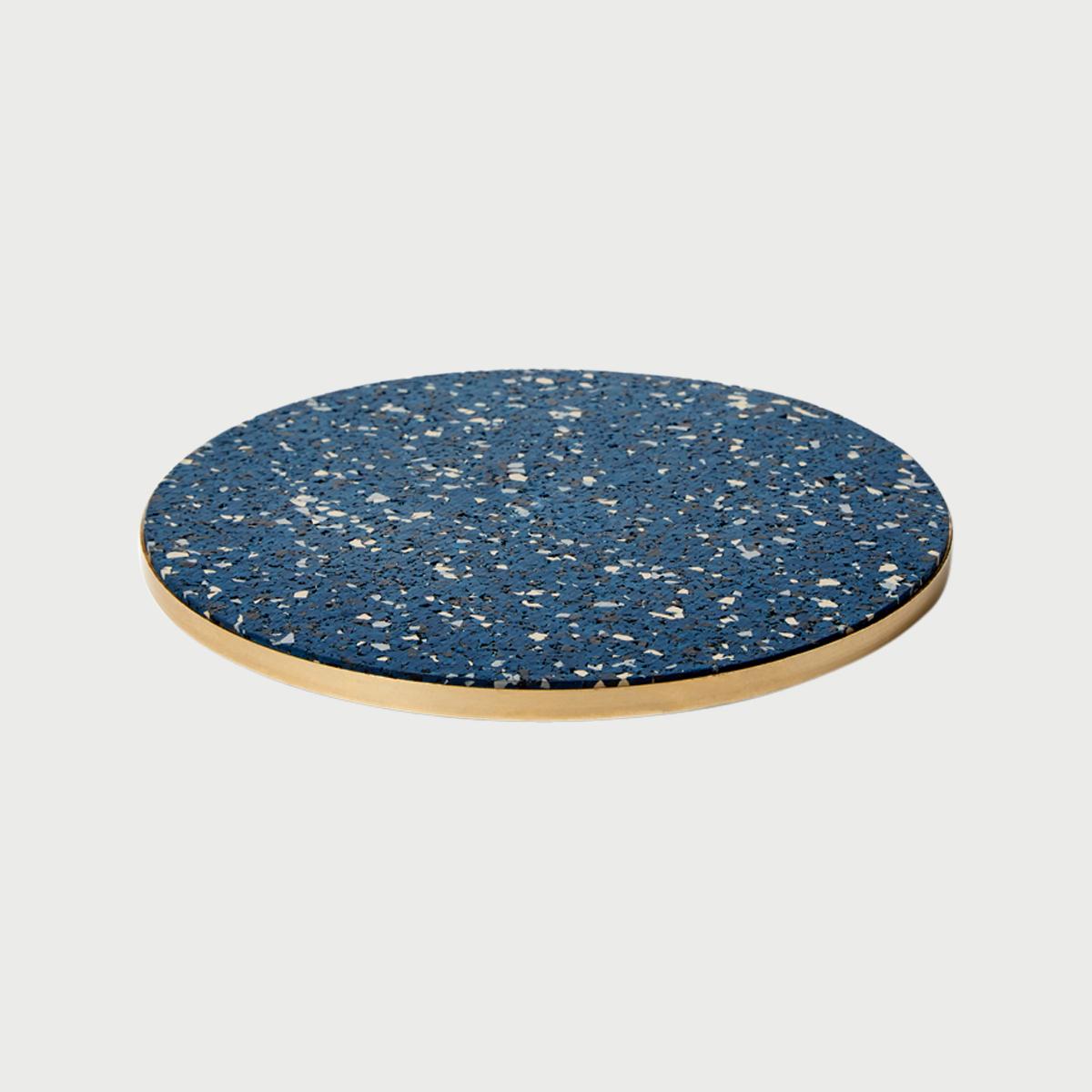 Brass rubber trivet royal slash objects web