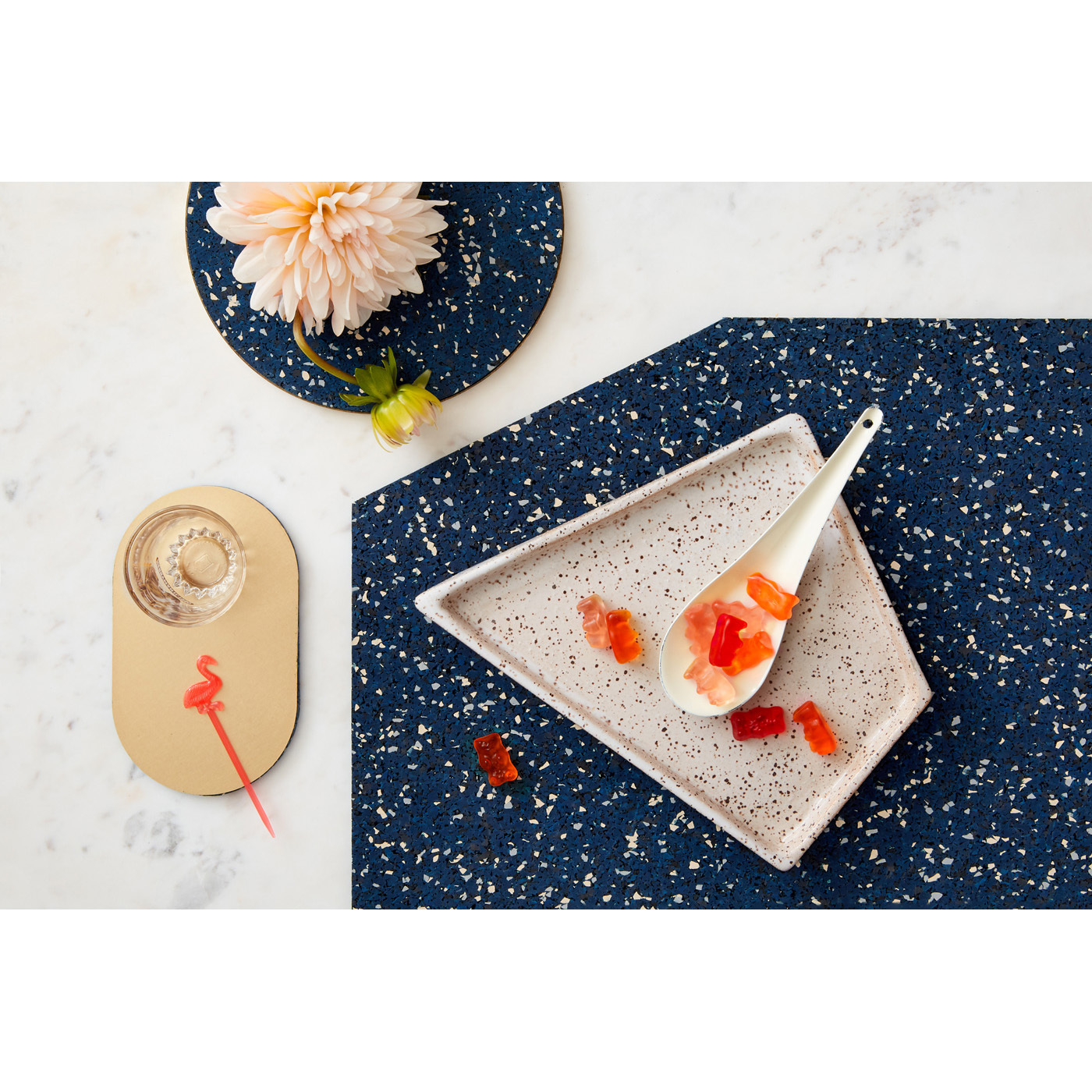 Slash objects rubber placemat trivet coaster royal scene