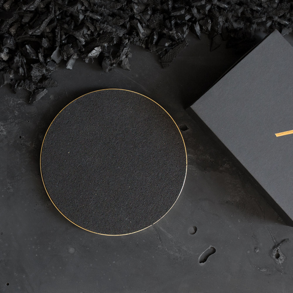 Black scene black brass trivet web sq