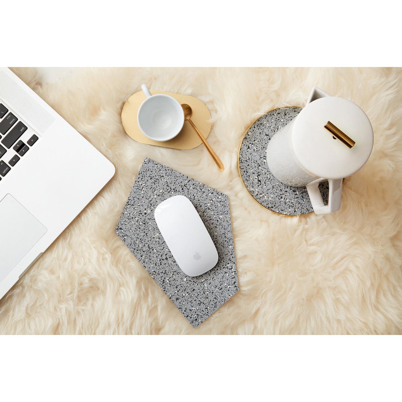 Slash objects rubber mousepad tablewares gris