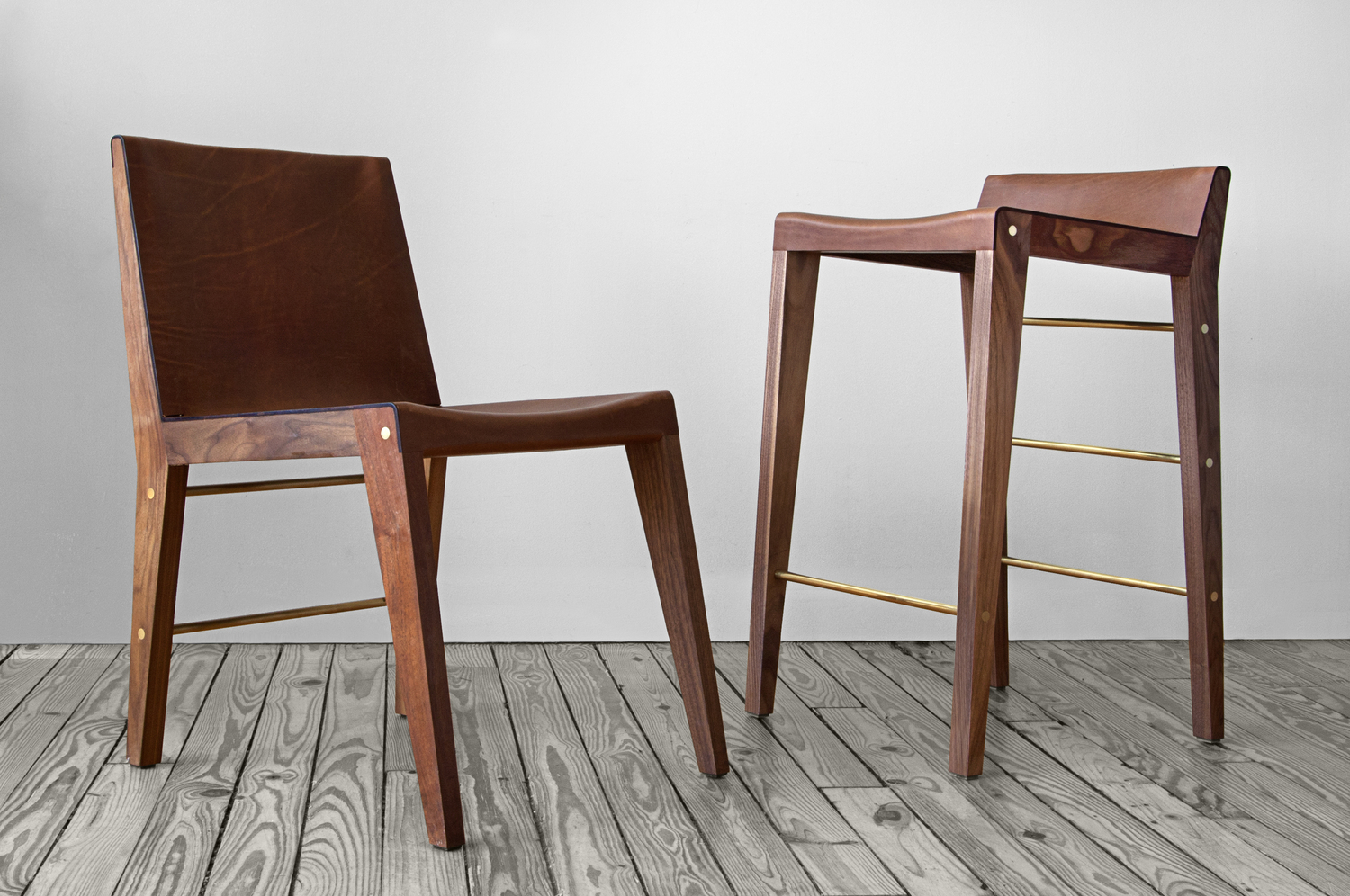 Asher israelow lincoln chair and stool