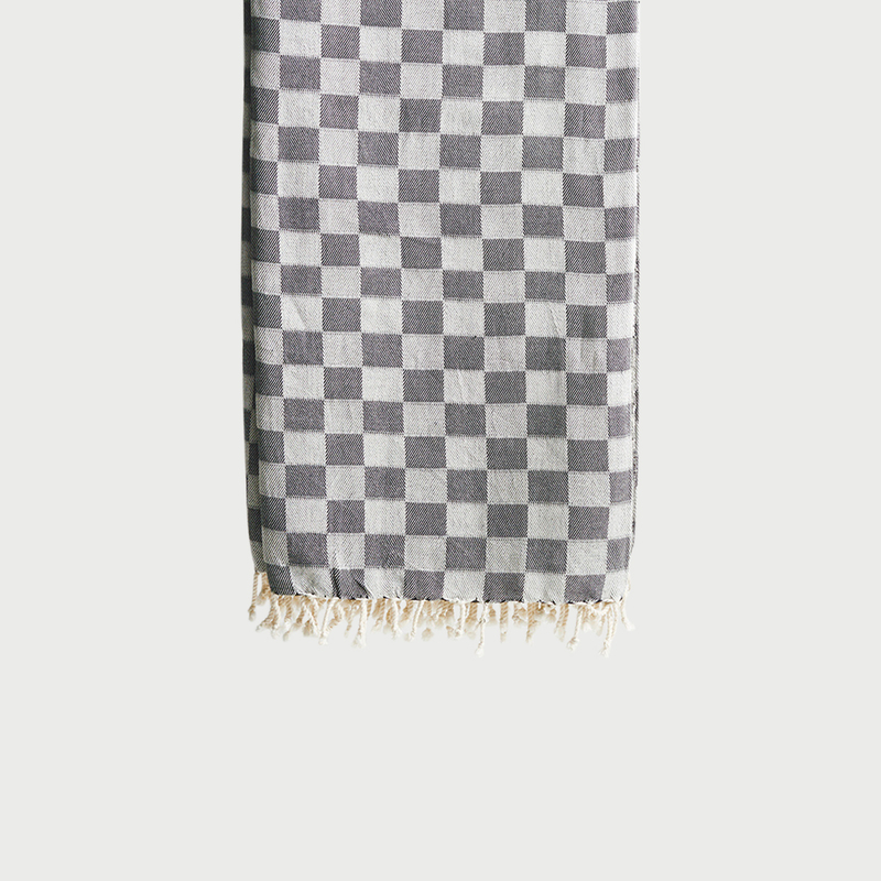 Checker throw black gray  281 29