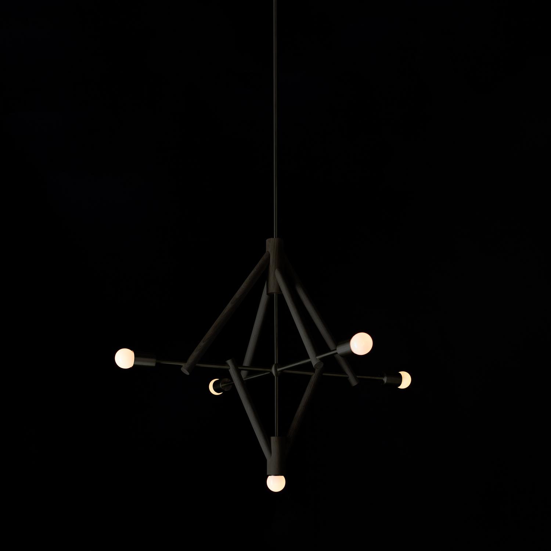 Lodge chandelier five oxidized oah drop