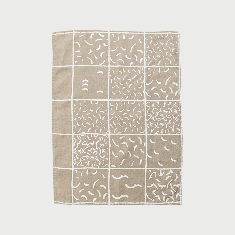 Alyson fox tea towels aquarium natural