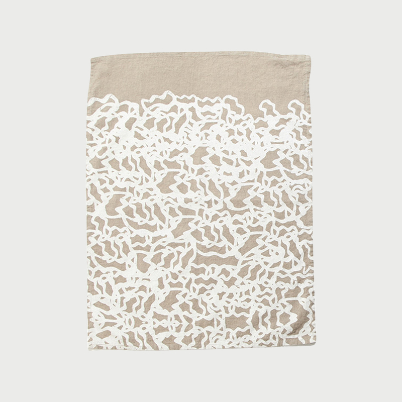Alyson fox tea towels pool natural