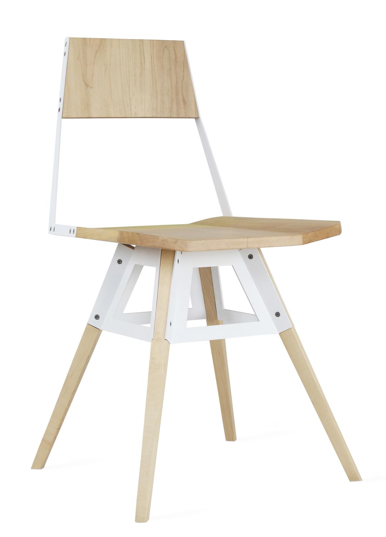 Clarke chair maple white 2