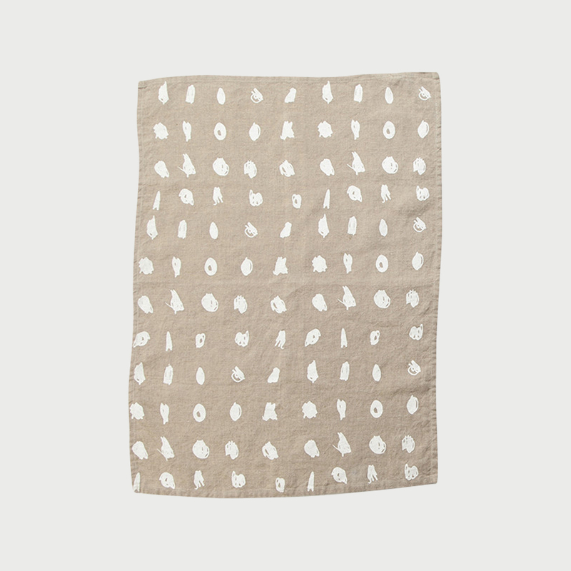 Alyson fox tea towels dots natural