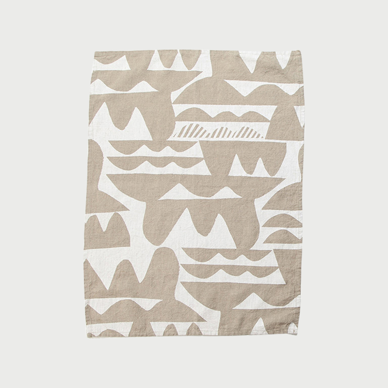 Alyson fox tea towels waves natural