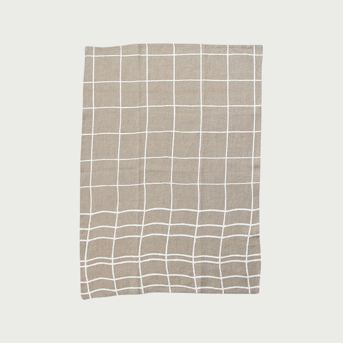 Alyson fox tea towels grid natural