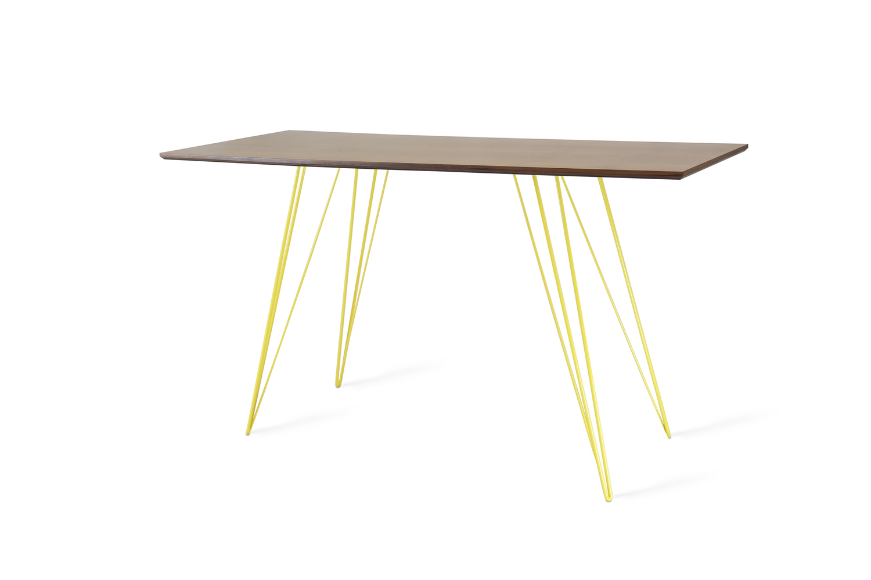 Williams desk walnut yellow