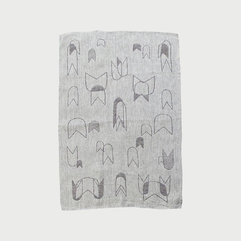 Alyson fox tea towels ghosts grey