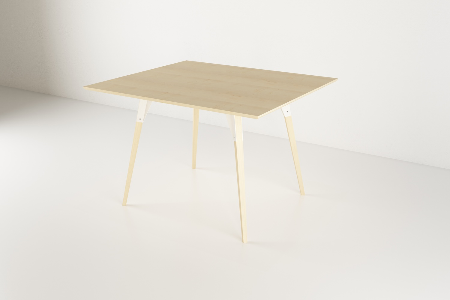 Clarke dining sm rectangle maple white