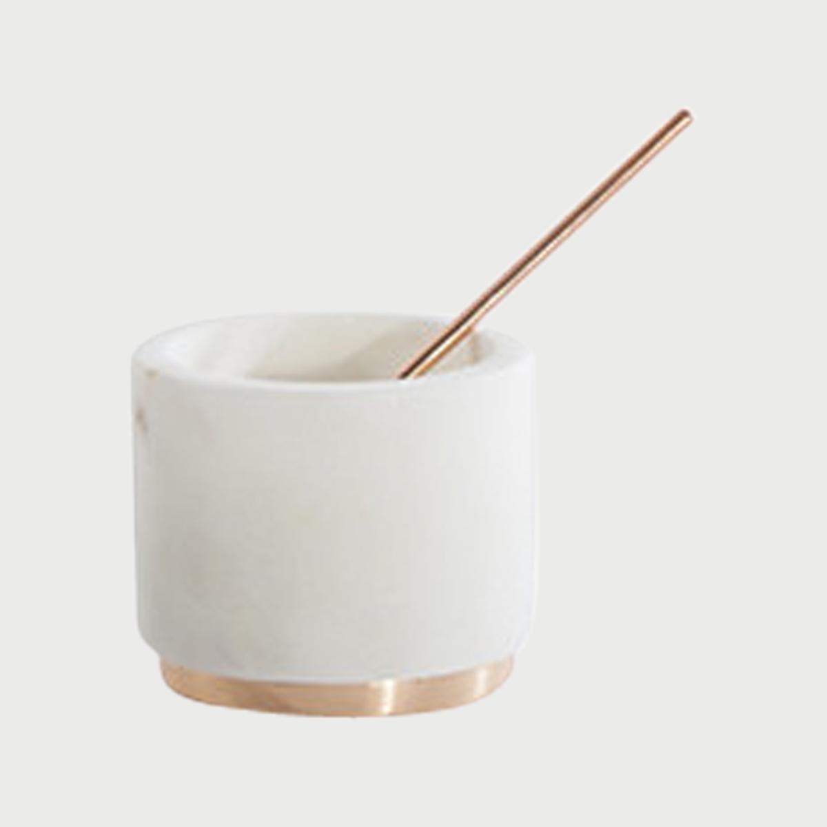 Mara copper sugar pinch pot spoon in