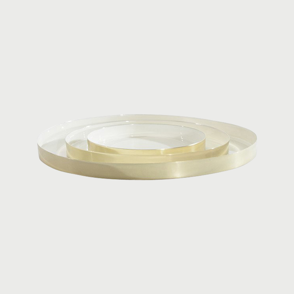 Louise brass tray family white