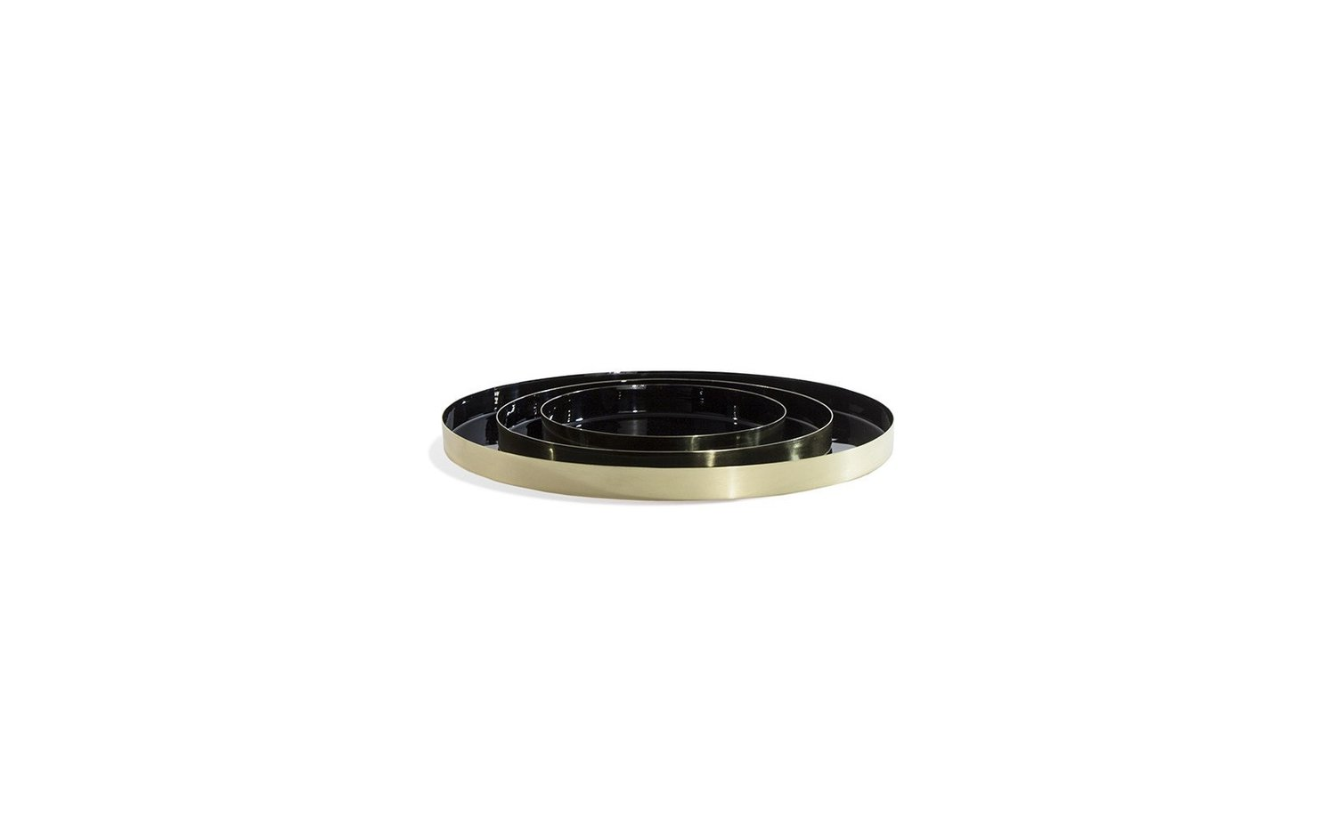 Louise brass tray family black