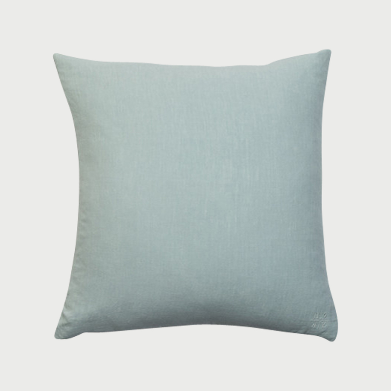 Simple linen pillow mint