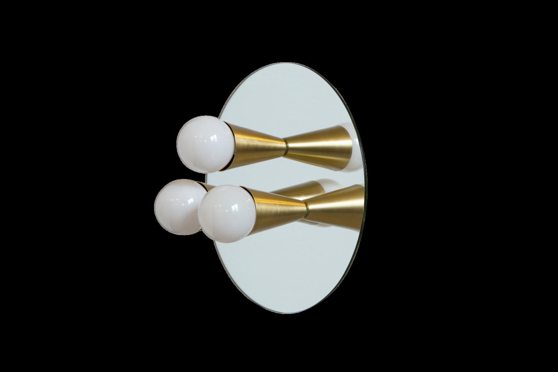 1 echo 3 brass modern mirrored sconce surface flush mount