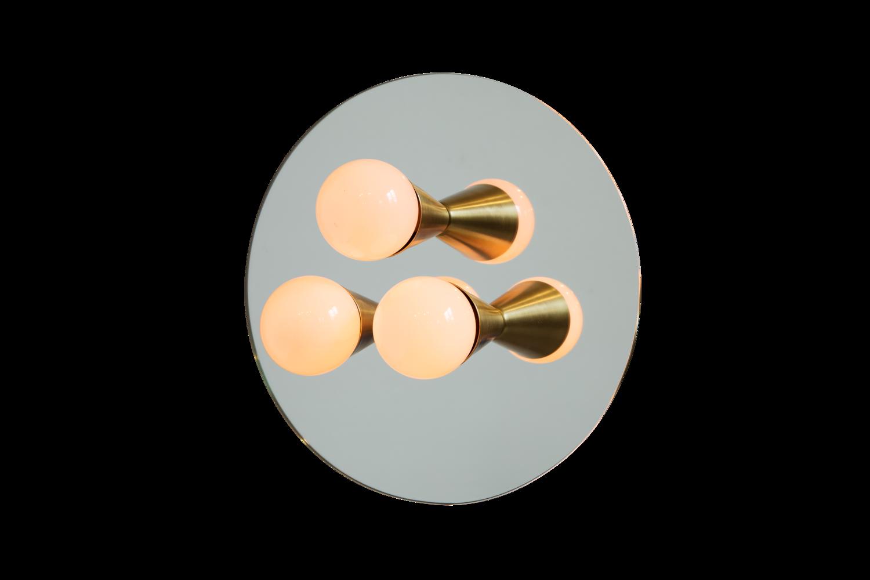 3 echo 3 brass mirrored sconce surface flush mount lighting